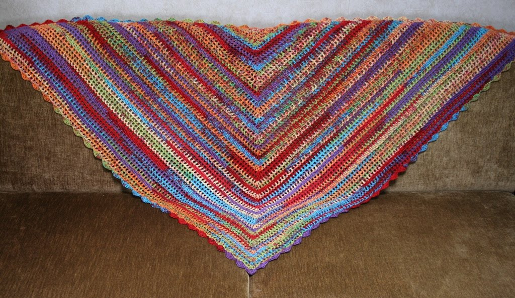 shawl on couch
