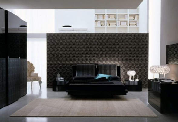 luxury-interior-design-bedroom-wall-art-with-bed-colour-black-588x403