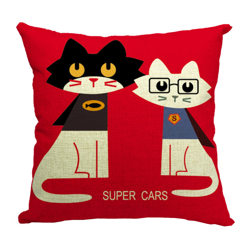 Anime-Pillow-case-Eco-Friendly-Cat-Invisible-Zipple-removable-washable-cotton-Hugging-Pillows-Cover-Textile-Product
