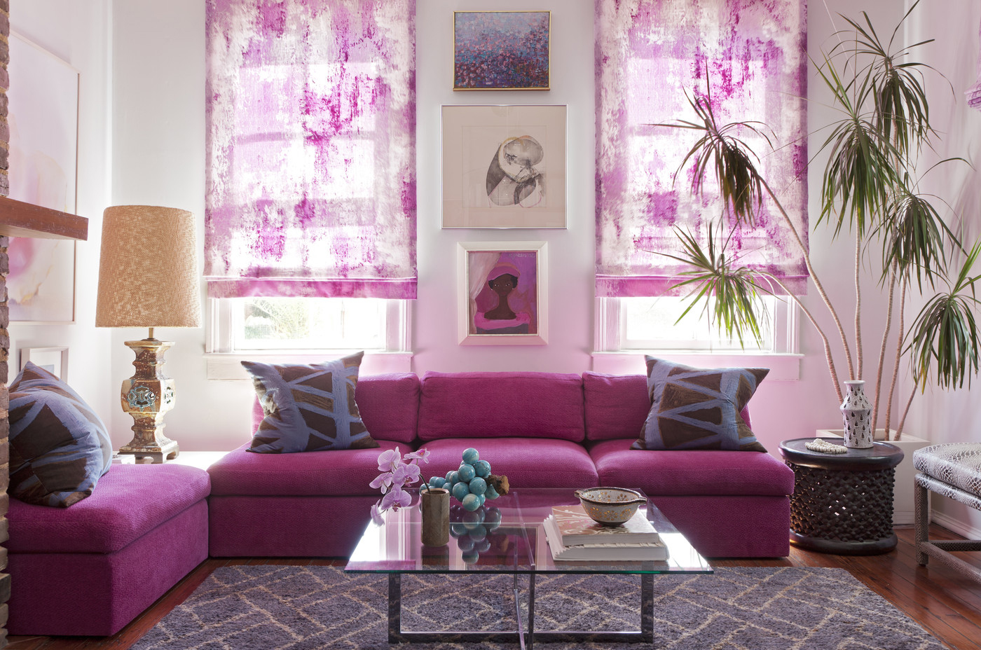 Radiant-orchid-living-room-decor