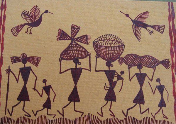 Simple Warli Painting For Kids | www.imgkid.com - The ...