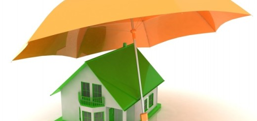 House-with-umbrella-over-it