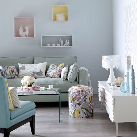 Soothing-pastel-living-room-Modern-Ideal-Home