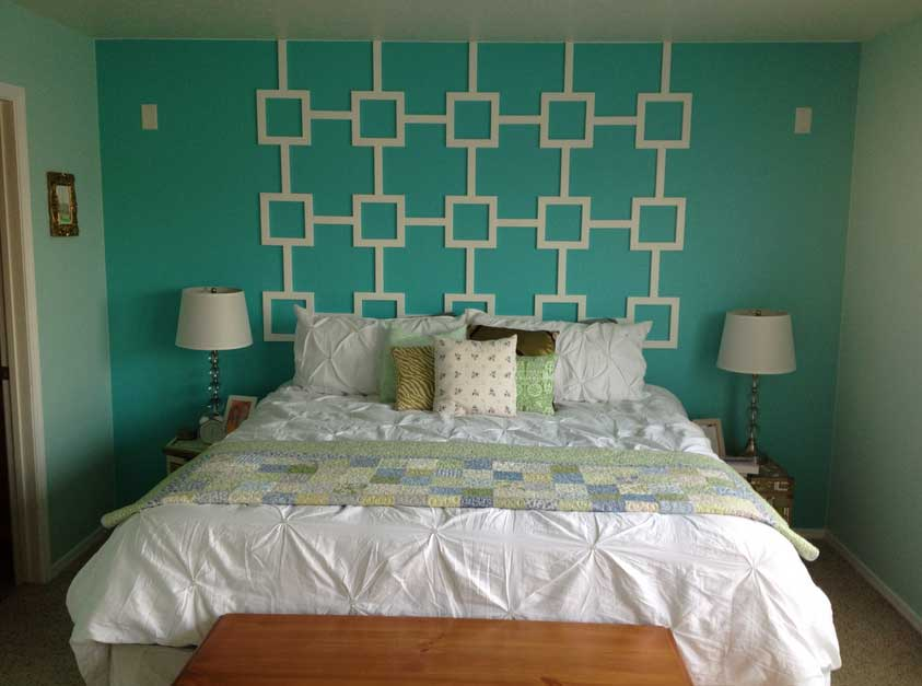 Great-Green-Bedroom-Themes-With-White-Cover-Full-Size-Bed-Sheet-Also-Shade-Table-Lamps-In-Small-Room-Decor-Ideas