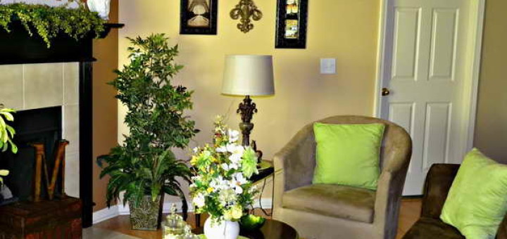 green-home-decor-Shade-Of-Green-Home-Decor-With-Ornamental-Plants