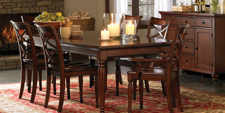 furniture-good-dining-tables-and-chairs-sale-meals-fruits-candle-lighting-brightly-room-nice-wooden