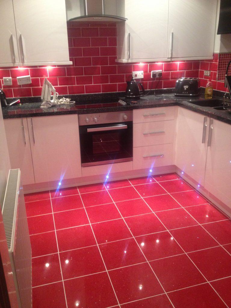 Bright color kitchen